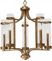 "Milan Vintage Gold Candlestick Chandelier 25""Wx27""H"