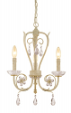 "Clara Antique White Crystal Candlestick Chandelier 16""Wx20""H"