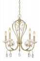 "Clara Antique White Crystal Candlestick Chandelier 21""Wx26""H"