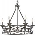 "Lakewood Antique Silver Iron Drum Pendant Light 27""Wx26""H"