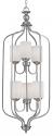"Lansing Brushed Pewter Chandelier Drum Glass 16""Wx43""H"