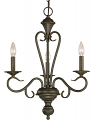 "Devonshire Burnished Gold Candlestick Chandelier 19""Wx23""H"