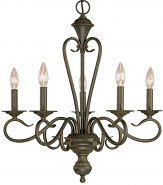 "Devonshire Burnished Gold Candlestick Chandelier 22""Wx24""H"