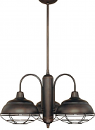 """Neo Industrial Rubbed Bronze Chandelier Wire Guards 27""""Wx54""""H"""