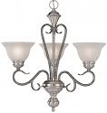 """Devonshire Silver Mist Chandelier Alabaster Glass 23""""Wx24""""H"""