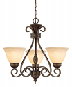 "Alma Bronze & Gold Highlighted Chandelier Bell Glass 23""Wx21""H"