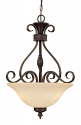 "Alma Bronze & Gold Highlight Chandelier Scavo Glass 18""Wx25""H"