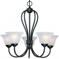 "Main Street Black Chandelier Alabaster Glass 26""Wx22""H"
