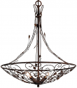 "Arts Crafts Hand Forged Iron Bronze & Gold Chandelier 22""Wx26""H - Sale !"