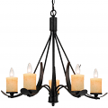"Morelis Blacksmith Iron Chandelier Glass Shades 28""Wx25""H - Sale !"