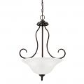 """Cleveland Dark Bronze Chandelier Scavo Glass 19""""Wx26""""H"""
