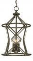 "Lakewood Antique Silver Iron Barrel Pendant Light 12""Wx19""H"
