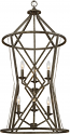 "Lakewood Antique Silver Iron Barrel Pendant Light 20""Wx40""H"