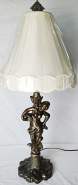 "Vintage Iron Cherub Lamp 30""H - Sale !"
