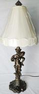"Vintage Iron Cherub Lamp 30""H"