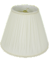 "Chiffon Mushroom Pleated Empire Lamp Shade Cream or White 8-18""W"