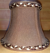 "Chocolate Brown Chandelier Shade 5.25""W - Sale !"