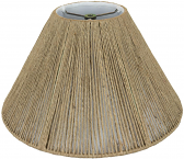 "Coolie Coarse Beige Hemp String Lamp Shade 16-20""W"