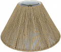 "Coarse Beige Hemp Rope Coolie String Lamp Shade 16-20""W"