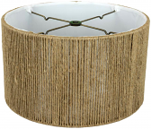 "Hemp String Drum Lamp Shade 12-18""W"