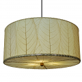 "Drum Cocoa Leaf Pendant Light 18-24""Wx10""H #497- Natural"