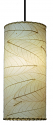 "Cocoa Leaf Cylinder Pendant Light 16.5""Hx7""W #504- Natural"