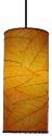 "Cocoa Leaf Cylinder Pendant Light 16.5""Hx7""W #504- Orange"