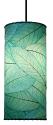 "Cocoa Leaf Cylinder Pendant Light 16.5""Hx7""W #504- Sea Blue"