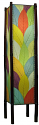 "Cocoa Leaf & Bamboo Fortune Floor Lamp 48""Hx11""W #395L-Multi Color"