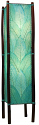 "Cocoa Leaf & Bamboo Fortune Floor Lamp 48""Hx11""W #395L-Sea Blue"