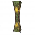 "Hour Glass Cocoa Leaf Jackfruit Floor Lamp 48""Hx13""W #553L-Green"
