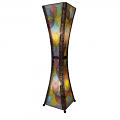 "Hour Glass Cocoa Leaf Jackfruit Floor Lamp 48""Hx13""W #553L-Multi Color"