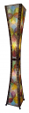 "Hour Glass Cocoa Leaf Jackfruit Floor Lamp 48""Hx13""W #553XL-Multi Color"