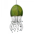 "Jellyfish Cocoa Leaf Pendant Light 35""Hx15""W #525- Green"