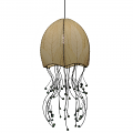 "Jellyfish Cocoa Leaf Pendant Light 35""Hx15""W #525- Multi Color"