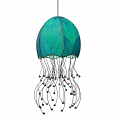 "Jellyfish Cocoa Leaf Pendant Light 35""Hx15""W #525- Sea Blue"