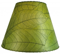 "Cocoa Leaf Lamp Shade 16""W #486-Green"