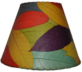 "Cocoa Leaf Lamp Shade 16""W #486-Multi Color"