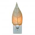 """Cocoa Leaf Night Light 8""""Hx4""""W #623- Natural"""