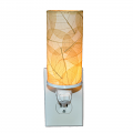 """Cylinder Cocoa Leaf Night Light 7""""Hx2.5""""W #624- Natural"""