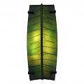 "Banana Bowl Cocoa Leaf Sconce Light 22""Hx12""W #524- Green"