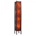 "Cocoa Leaf & Bamboo Fortune Floor Lamp 72""Hx11""W #395XL-Burgundy"
