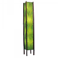 "Cocoa Leaf & Bamboo Fortune Floor Lamp 72""Hx11""W #395XL-Green"