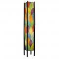 "Cocoa Leaf & Bamboo Fortune Floor Lamp 72""Hx11""W #395XL-Multi Color"