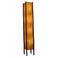 "Cocoa Leaf & Bamboo Fortune Floor Lamp 72""Hx11""W #395XL-Orange"