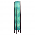 "Cocoa Leaf & Bamboo Fortune Floor Lamp 72""Hx11""W #395XL-Sea Blue"