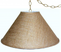 "Coolie Burlap Swag Lamp 16-24""W"