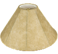 "Leather Look Coolie Lamp Shade 16-22""W"