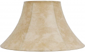 "Leather Look Bell Coolie Lamp Shade 16-22""W - Sale !"