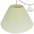 "Mushroom Pleated Coolie Swag Lamp Cream or White 16-24""W"